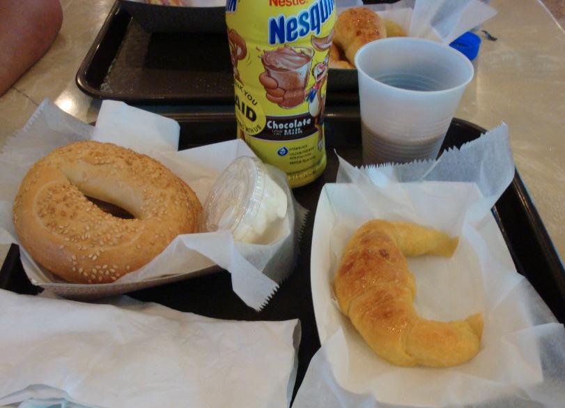 Meu café da manhã mezzo argentino mezzo judeu.