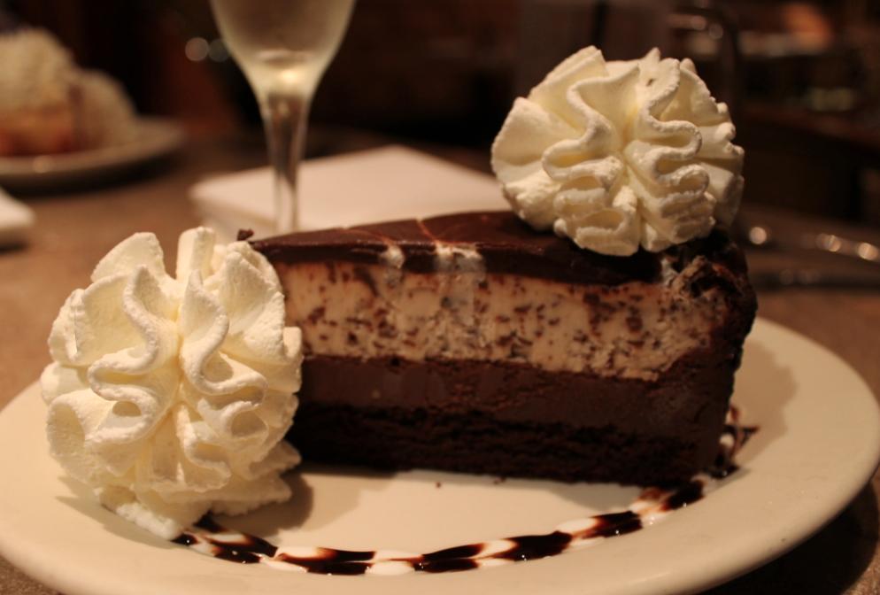 Chocolate Tuxedo Cream Cheesecake.